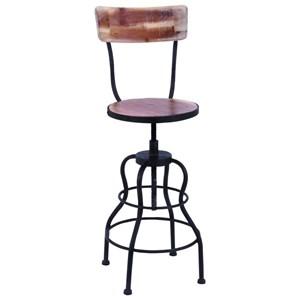 Metal/Wood Bar Chair