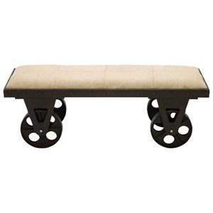 UMA Enterprises, Inc. Accent Furniture Metal/Fabric Bench