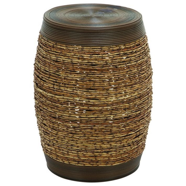 Accent Furniture Woven Foot Stool by UMA Enterprises, Inc. at Wilcox Furniture