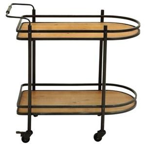 UMA Enterprises, Inc. Accent Furniture Metal/Wood Bar Cart