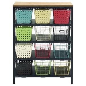 UMA Enterprises, Inc. Accent Furniture Metal/Wood Storage Rack