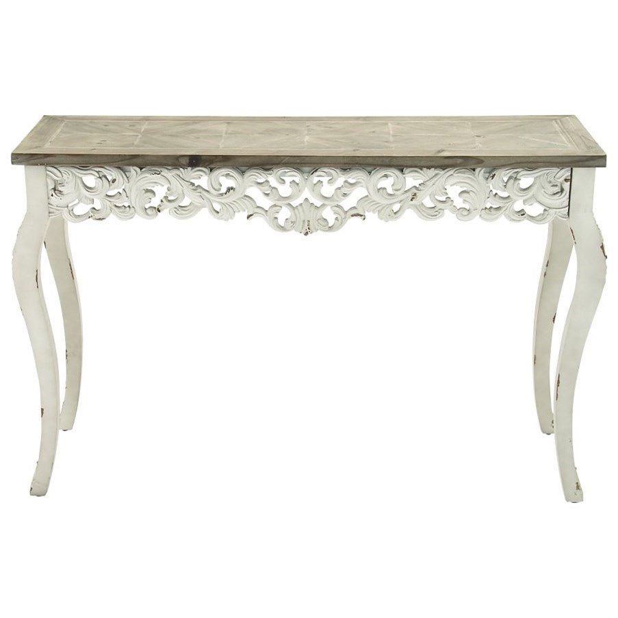 Wood Carved Console Table