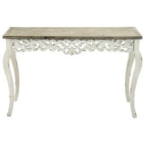 UMA Enterprises, Inc. Accent Furniture Wood Carved Console Table