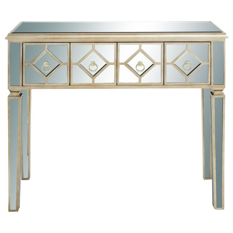 Accent Furniture Wood Mirror Console Table by UMA Enterprises, Inc. at Wilcox Furniture