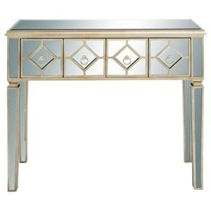 UMA Enterprises, Inc. Accent Furniture Wood Mirror Console Table