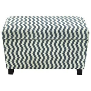 UMA Enterprises, Inc. Accent Furniture Fabric Storage Ottomans, Set of 2