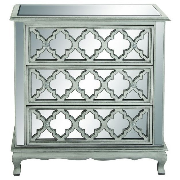 Accent Furniture Wood Mirror Chest by UMA Enterprises, Inc. at Wilcox Furniture