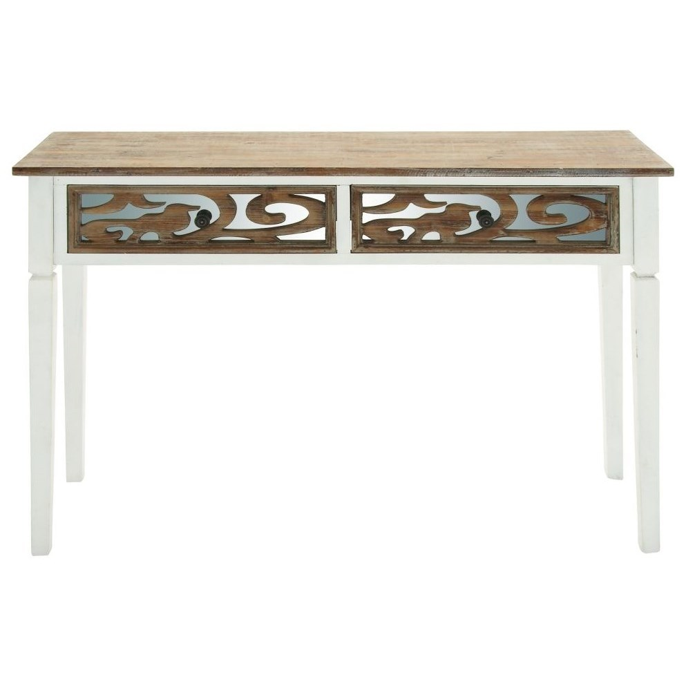 Wood/Mirror Console Table