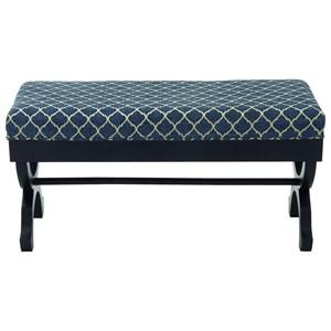 UMA Enterprises, Inc. Accent Furniture Wood Fabric Bench