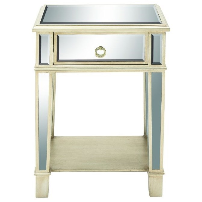 Accent Furniture Mirror Side Table by UMA Enterprises, Inc. at Wilcox Furniture