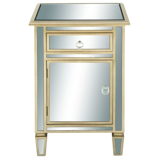 Accent Furniture Wood/Mirror Side Cabinet by UMA Enterprises, Inc. at Wilcox Furniture