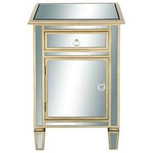 UMA Enterprises, Inc. Accent Furniture Wood/Mirror Side Cabinet