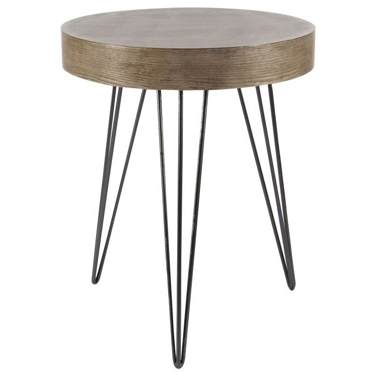 Metal/Wood Accent Table