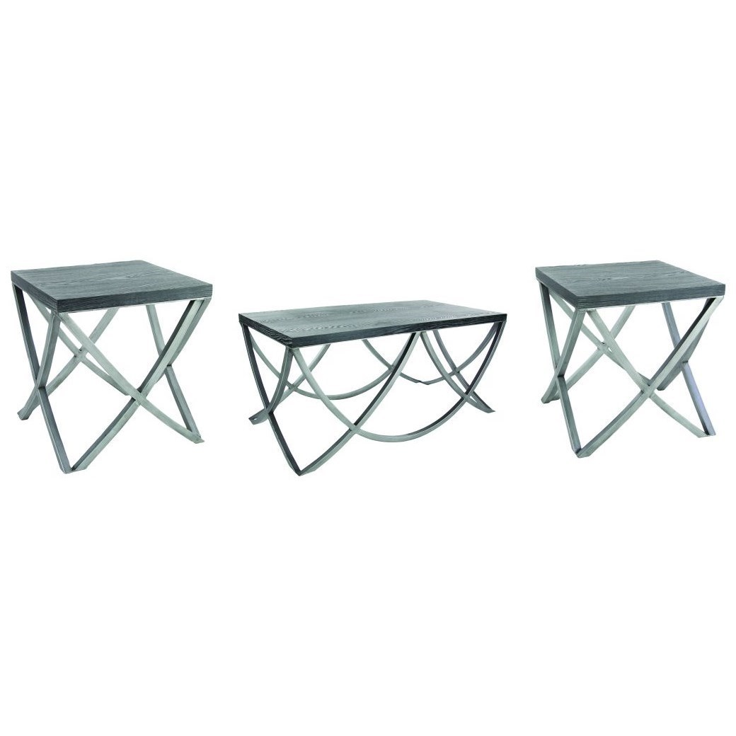 Accent Furniture Metal/Wood Table Set by UMA Enterprises, Inc. at Wilcox Furniture
