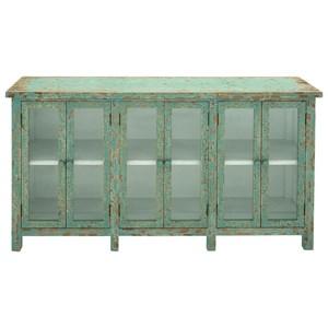UMA Enterprises, Inc. Accent Furniture Wood/Glass Console Cabinet