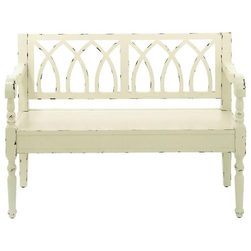Wood White Bench