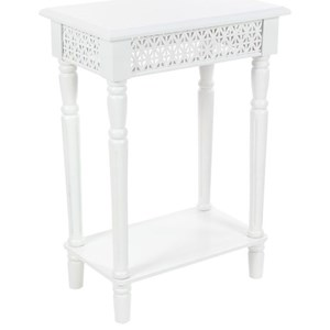UMA Enterprises, Inc. Accent Furniture Wood White Side Table