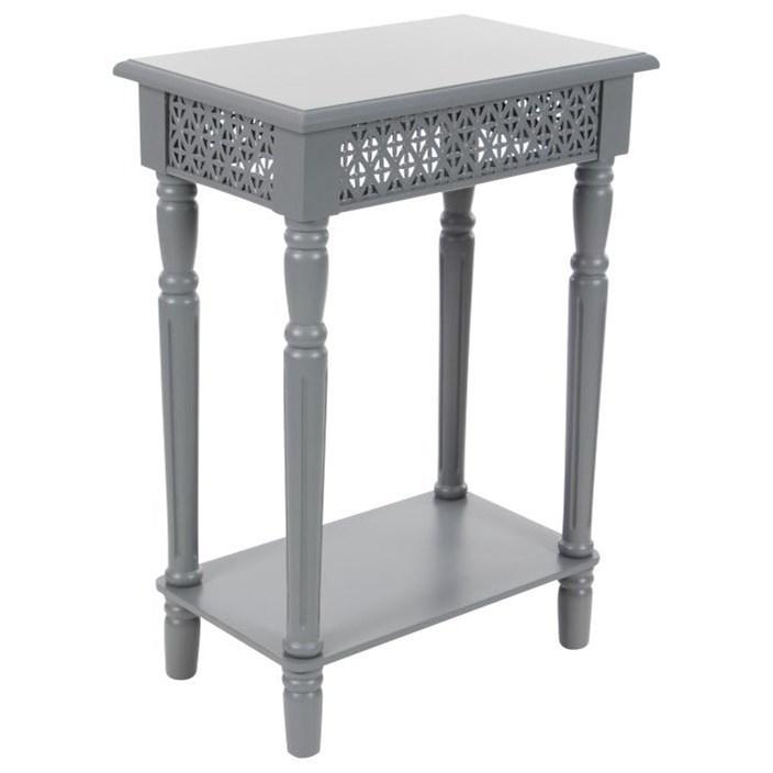Wood Grey Side Table
