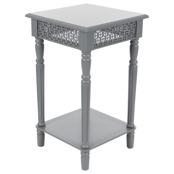 Wood Grey Side Table