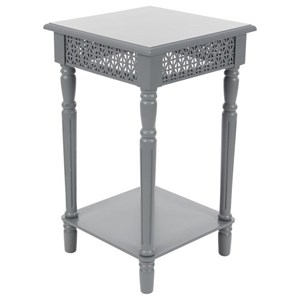 UMA Enterprises, Inc. Accent Furniture Wood Grey Side Table