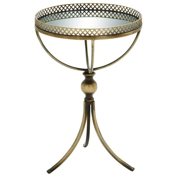 Metal/Mirror Tray Table