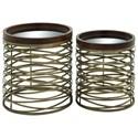 UMA Enterprises, Inc. Accent Furniture Metal/Mirror Tray Tables, Set of 2 - Item Number: 65462