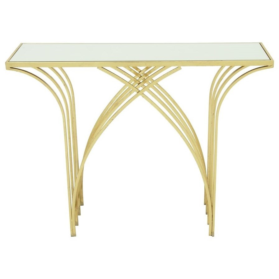 Accent Furniture Metal/Mirror Console Table by UMA Enterprises, Inc. at Wilcox Furniture
