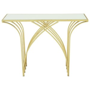 UMA Enterprises, Inc. Accent Furniture Metal/Mirror Console Table