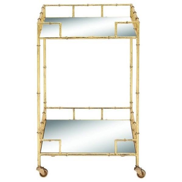 Metal/Mirror Bar Cart