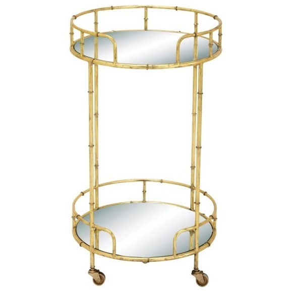 Accent Furniture Metal/Mirror Bar Cart by UMA Enterprises, Inc. at Wilcox Furniture