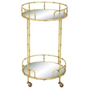 UMA Enterprises, Inc. Accent Furniture Metal/Mirror Bar Cart