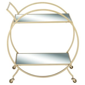 UMA Enterprises, Inc. Accent Furniture Metal/Mirror Cart