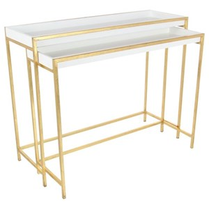 Metal/Console Tables, Set of 2