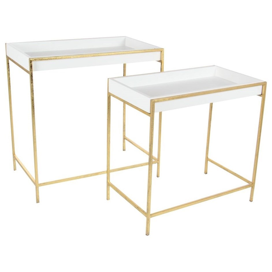 Metal Console Tables, Set of 2