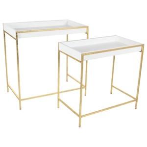 UMA Enterprises, Inc. Accent Furniture Metal Console Tables, Set of 2