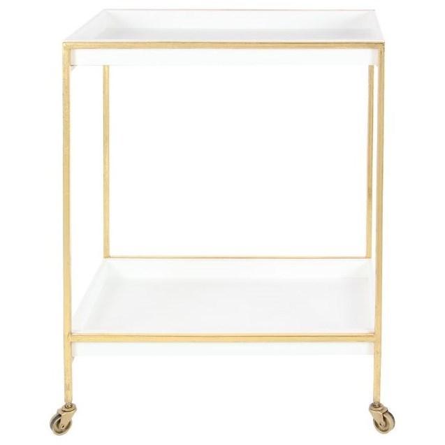 Accent Furniture Metal/Wood Tea Cart by UMA Enterprises, Inc. at Wilcox Furniture