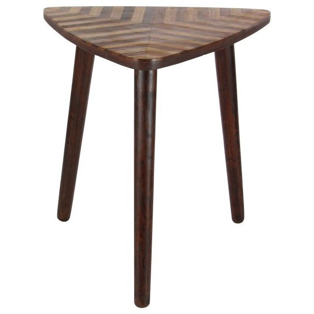 Wood Triangle Accent Table