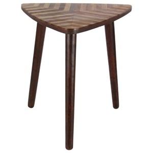 UMA Enterprises, Inc. Accent Furniture Wood Triangle Accent Table