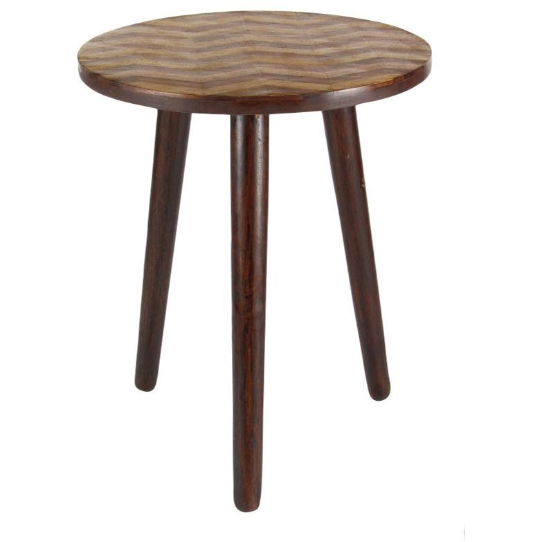 Accent Furniture Wood Round Accent Table by UMA Enterprises, Inc. at Wilcox Furniture