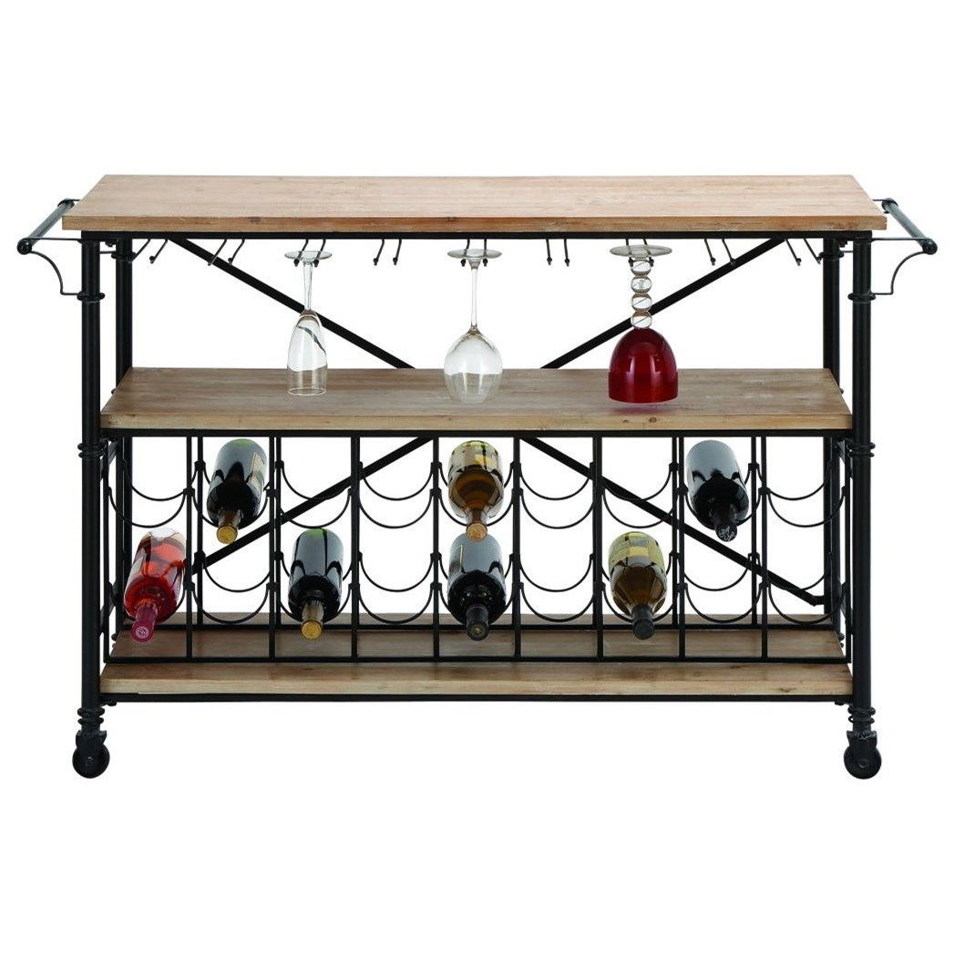 Metal/Wood Wine Rack Table