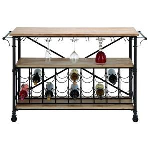 UMA Enterprises, Inc. Accent Furniture Metal/Wood Wine Rack Table