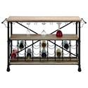 UMA Enterprises, Inc. Accent Furniture Metal/Wood Wine Rack Table - Item Number: 66777