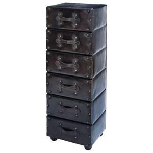UMA Enterprises, Inc. Accent Furniture Wood/Faux Leather 6 Drawer Chest