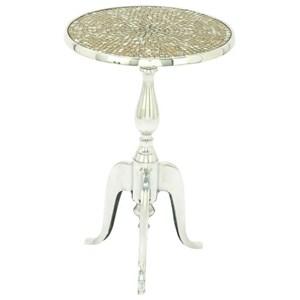 UMA Enterprises, Inc. Accent Furniture Aluminum Mosaic Round Accent Table
