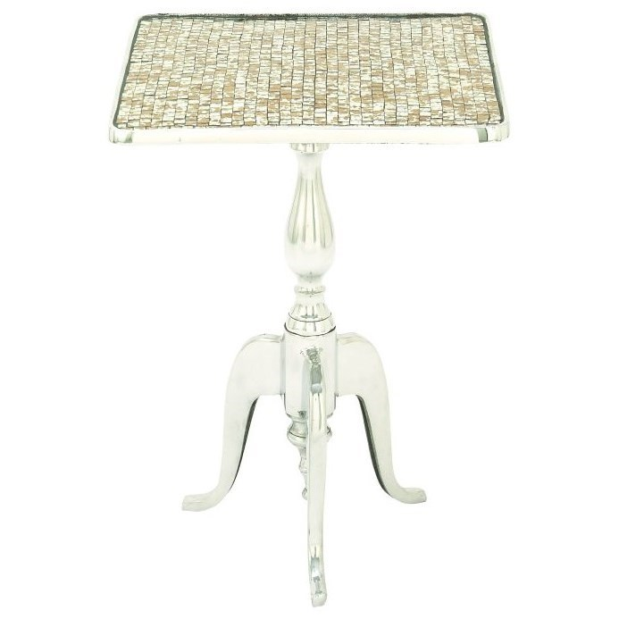 Aluminum Mosaic Square Accent Table