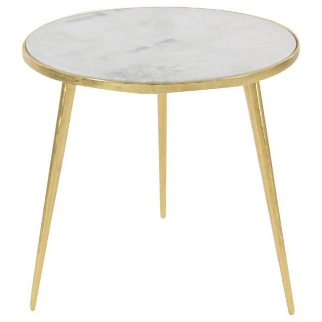 Aluminum Marble Accent Table