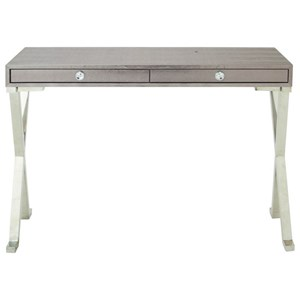 UMA Enterprises, Inc. Accent Furniture Stainless Steel/Faux Leather Console