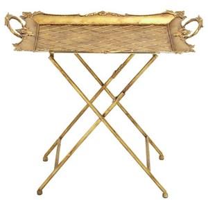UMA Enterprises, Inc. Accent Furniture Metal Tray Table