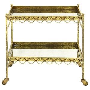 UMA Enterprises, Inc. Accent Furniture Metal/Glass Bar Cart