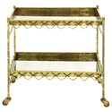 UMA Enterprises, Inc. Accent Furniture Metal/Glass Bar Cart - Item Number: 70951